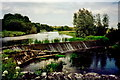 N0721 : Balingowan - River scene with small dam by Joseph Mischyshyn