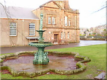 NT4728 : Fountain in the grounds of Victoria Halls by Adam D Hope