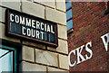 J3474 : Commercial Court sign, Belfast by Albert Bridge