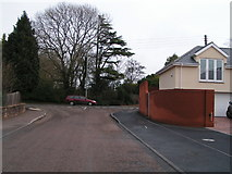 SX9886 : Exton Lane and the junction with the main road to Exmouth by Rob Purvis
