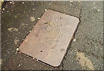 J3271 : NIES access cover, Belfast by Albert Bridge