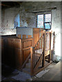 SK7648 : Elston Old Chapel, Pulpit by Alan Murray-Rust