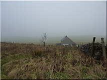 SK1462 : House by Tissington Trail on a foggy day by Peter Barr