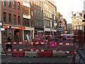 TQ3280 : Borough High Street roadworks - start (2) by Stephen Craven