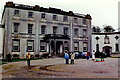 M9380 : Strokestown - Park House - Distant courtyard view by Joseph Mischyshyn