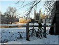 TL4458 : King's College Chapel in the snow - 2 by John Sutton