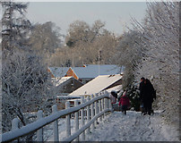 TM0855 : Snow in Needham Market by Andrew Hill