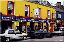Q4401 : Dingle Town - Bright yellow store & restaurant by Joseph Mischyshyn