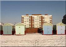 TQ2704 : Beach Hut No More by Simon Carey