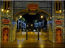 SZ0891 : Bournemouth: leaving the Christmas market for the Lower Gardens by Chris Downer