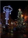 SZ0891 : Bournemouth: Christmas decorations in The Square by Chris Downer
