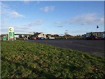 SW9961 : Service station and car park, Victoria by Derek Harper