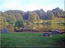 SK4564 : Fishing at Miller's Pond by Trevor Rickard