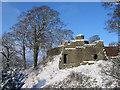 SD5292 : Kendal Castle keep by Ian Taylor