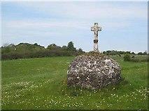 G8312 : Cross at Kilmactranny Church by Oliver Dixon