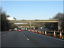 SJ8441 : M6 Motorway At Junction 15, Northbound by Peter Whatley