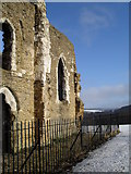 SU9948 : Railings around St Catherine's Chapel by Basher Eyre