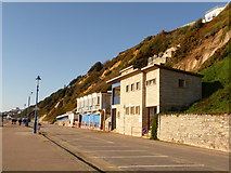 SZ0990 : Bournemouth: East Cliff toilets, kiosk and cliff lift by Chris Downer