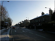 SE1437 : Bingley Road, Saltaire on Christmas Day by Stephen Armstrong