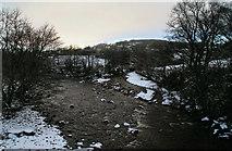 NY9425 : River Tees by Peter McDermott