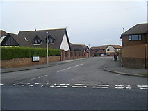SS8178 : Nottage Meadows from West Road. by Colin Pyle