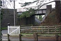 SP0838 : Railway bridge west of Broadway by Stephen McKay