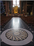 SJ3589 : The nave of the Anglican Cathedral by John S Turner