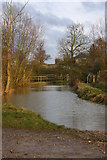 SP2853 : Ford on the River Dene at Walton in flood by David P Howard
