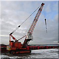 TA0623 : Priestman Crane at Old Ferry Wharf by David Wright