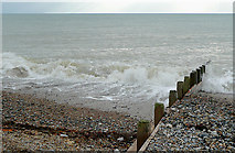 TQ1602 : Pebbles, groyne and sea at Worthing, West Sussex by Roger  Kidd