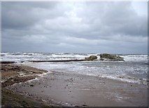 NO5017 : Storm lashed beach at St Andrews by Tom Pennington