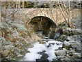 NH8547 : Glengeoullie Bridge over Rieriach Burn, near Nairn by nairnbairn