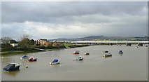 TQ2105 : River Adur near Shoreham-by-Sea, West Sussex by Roger  Kidd