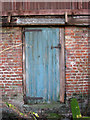 TM3696 : Faded old shed door by Evelyn Simak