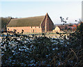 TM3696 : Hales Great Barn viewed from Litchmere Road by Evelyn Simak