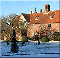 TM3696 : Tudor chimneys at Hales Hall by Evelyn Simak