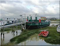 TQ2104 : Houseboat at Shoreham Beach, West Sussex by Roger  Kidd