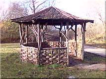 SK3455 : Hut on path at Crich Tramway Museum, Derbyshire by Eamon Curry
