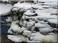 NG3352 : Frozen waterfall in the Red Burn by Richard Dorrell