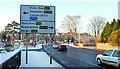 J3873 : Road sign, Belfast by Albert Bridge