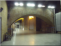 TQ3179 : Waterloo station: undercroft  by Stephen Craven