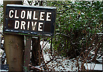 J3774 : Clonlee Drive sign, Belfast by Albert Bridge
