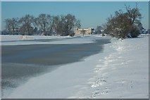 SO8843 : Frozen Croome River by Philip Halling