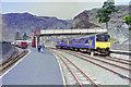 SH7045 : Blaenau Ffestiniog station and train by Robin Webster