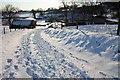 SO7639 : The lane to Underhills Farm in the snow by Bob Embleton