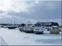 TM4599 : Snow at Johnson's Yacht Station, St Olaves by John Courtney