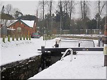 SJ2207 : Lock Gate on Canal by John Firth