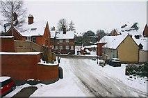 SU3988 : Limborough Road from Sainsbury's car park by Steve Daniels