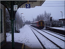 SU3521 : Looking south-eastwards from Romsey  railway station by peter clayton