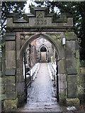 SJ8959 : South gate, St Lawrence's Church by Jonathan Kington